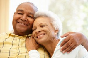 happy couple that doesn't suffer from sleep apnea
